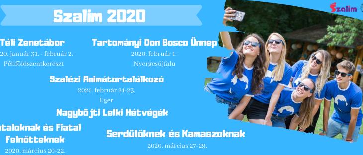Szalézi programok – 2020